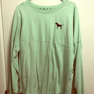 Over sized thick teal PINK shirt